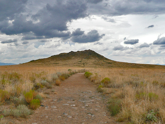 Seen here is the JA Volcano, one of three main cinder cones created by a 5-mile long fissure eruption