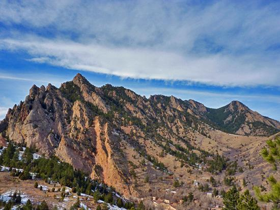 View of the entrance to Eldorado Canyon from the Fowler Trail