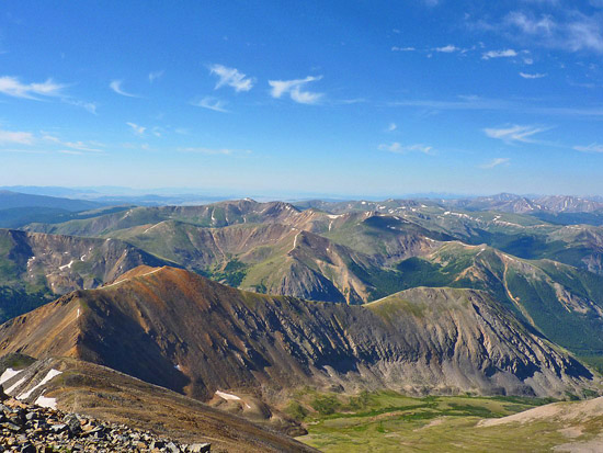 View from the saddle between Grays Peak and Torreys Peak