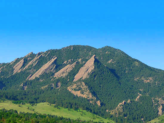 Green Mountain and the Boulder Flatirons
