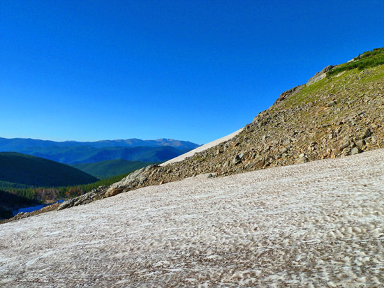 St Mary's Glacier, a perennial snowfield near James Peak
